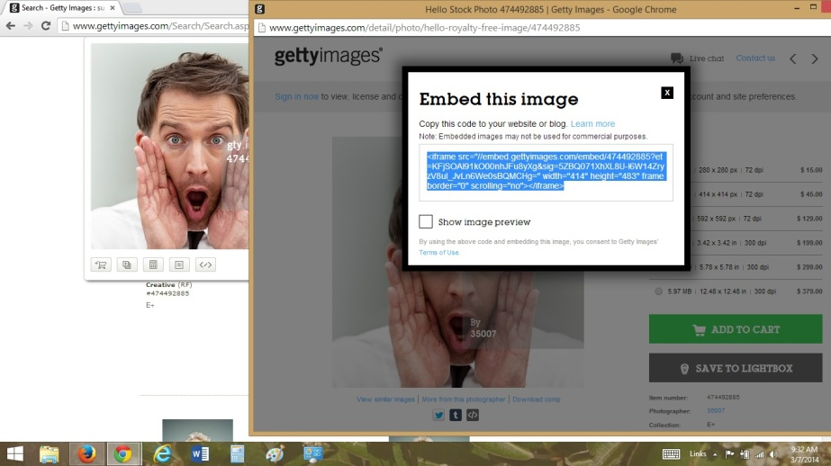 Embedding an image from Getty Images http://www.gettyimages.com