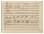 A page from Beethoven's manuscript for his 9th Symphony available at www.wikipedia.org